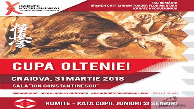 Aproximativ 140 de concurenti isi vor disputa titlurile de campioni, la prima competitie de karate kyokushinkai, organizata in Craiova pe data de 31 martie 1
