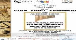 Tripla ipostaza a maestrului Gian Luigi Zampieri,in concertul din Joia Mare 30
