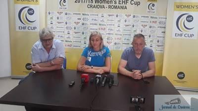"Handbal / Cupa E.H.F. YULYIA DUMANSKA: ""VREM SA OPRIM CUPA LA CRAIOVA"""