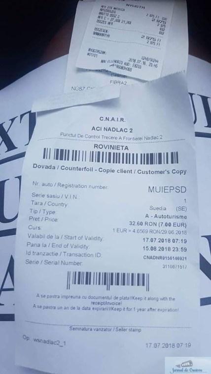 Masina inmatriculata in Suedia cu numar personalizat cu mesaj impotriva PSD, oprita de echipajele politiei 2
