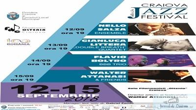 Craiova Jazz Festival, editia a II-a 12 – 15 septembrie 2018 Sala Filarmonicii Oltenia Craiova 1