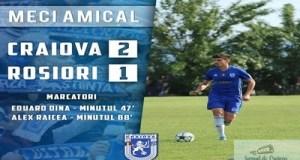 Fotbal : FC U Craiova a castigat amicalul de ieri impotriva echipei CS Sporting Rosiori 2008 12
