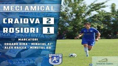 Fotbal : FC U Craiova a castigat amicalul de ieri impotriva echipei CS Sporting Rosiori 2008 1