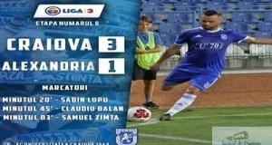 Fotbal : FC U Craiova a castigat impotriva echipei CSM Alexandria 15