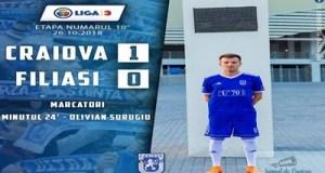 Fotbal : FC U Craiova castiga impotriva echipei ACSO Filiasi ! 5