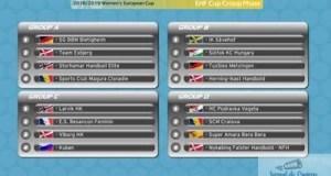 Handbal : SCM CRAIOVA A AFLAT ADVERSARII DIN GRUPELE CUPEI EHF 12