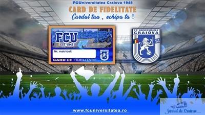 Fotbal : FC U Craiova a introdus Cardul de fidelitate ! 1