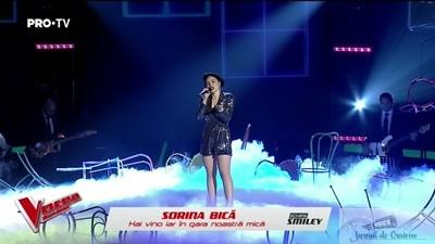 Chiar daca a fost eliminata , craioveanca Sorina Bica a facut un moment extraordinar la Vocea Romaniei 1