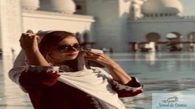 Irina Tanase s-a fotografiat in haine traditionale arabe!