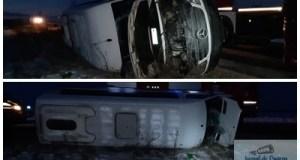 Microbuz cu 11 pasageri rasturnat la Calopar! Patru femei au ajuns la Spitalul de Urgenta Craiova ! 7