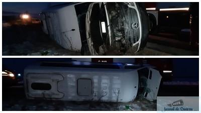 Microbuz cu 11 pasageri rasturnat la Calopar! Patru femei au ajuns la Spitalul de Urgenta Craiova !
