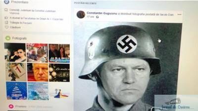 Un consilier judetean PSD a postat pe Facebook un trucaj cu Presedintele Iohannis in haine naziste
