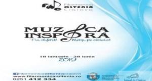 Filarmonica Oltenia Craiova : Muzica inspira! Stagiunea 2019 Fii diferit! Mergi pe clasic! 18 ianuarie – 28 iunie 1