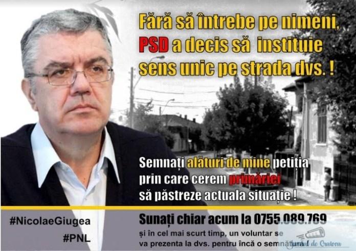 Nicolae Giugea , deputat PNL Dolj : Fara sa intrebe pe nimeni PSD a decis sa instituie sens unic pe strada dvs 2