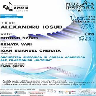 Filarmonica Oltenia Craiova : Concert vocal-simfonic Rahmaninov/Fauré