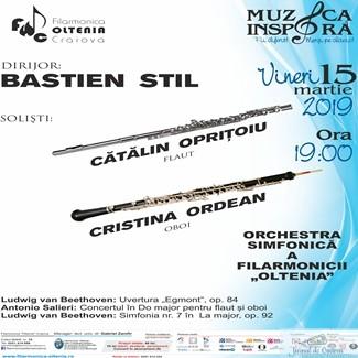 Filarmonica Oltenia Craiova : Concert Salieri sub bagheta lui Bastien Stil, solisti Catalin Opritoiu si Cristina Ordean 1