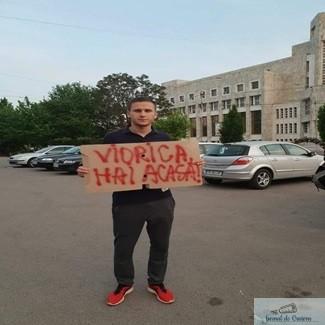 Protestatar amenintat de PSD-isti 1