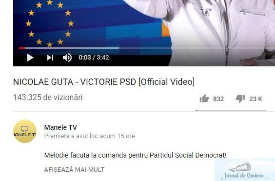 Nicolae Guta a scos cea mai proasta melodie pentru PSD ! 1