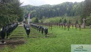 Crucile eroilor romani dintr-un cimitir al eroilor din Harghita, acoperite cu pungi de gunoi 5