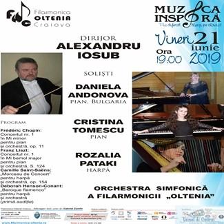 "Trei soliste pe scena Filarmonicii ""Oltenia"": Daniela Andonova, Cristina Tomescu, Rozalia Pataki 1"