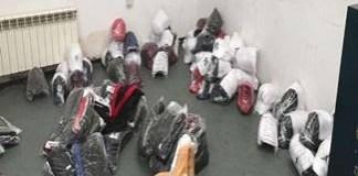 Bunuri in valoare de peste 300. 000 lei, susceptibile a fi contrafacute, confiscate de politistii de frontiera din Giurgiu si Calafat