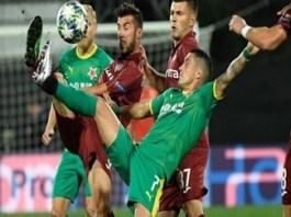 Fotbal : CFR Cluj, invinsa de Slavia Praga in primul meci din play-off-ul Ligii Campionilor