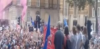 VIDEO Regina Marii Britanii si Boris Johnson au deschis cutia Pandorei: Mii de persoane protesteaza in principalele orase fata de suspendarea Parlamentului
