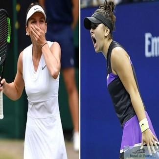 Tenis : Mesajul Simonei Halep pentru Bianca Andreescu: Romania este foarte mandra de tine