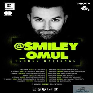 Smiley anunta @Smiley_Omul, cel mai mare turneu national sustinut de un artist roman