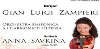 Concert Ceaikovski cu violonista Anna Savkina din Rusia