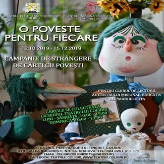 O poveste pentru fiecare, la Teatrul Colibri Craiova