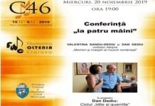 "Festivalul International ""Craiova Muzicala"", editia 46 : Conferinta ""la patru maini"""