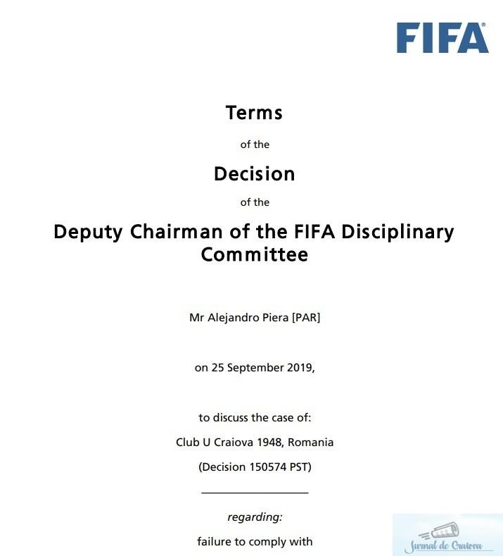 Fotbal : FIFA recunoaste FC UNIVERSITATEA CRAIOVA 1948, din Liga III a, drept continuatoarea Universitatii Craiova !!! 2