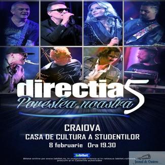 """Turneul national Directia 5 -""""Povestea noastra – 30 de ani"""" ajunge la Casa Studentilor din Craiova"""