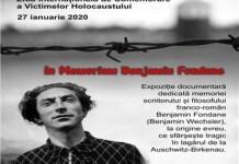 EXPOZITIA DOCUMENTARA – IN MEMORIAM BENJAMIN FONDANE LA BIBLIOTECA AMAN