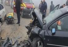 Tragedie pe drumul judetean DJ 561 D. Doua persoane decedate, alte sapte la spital!