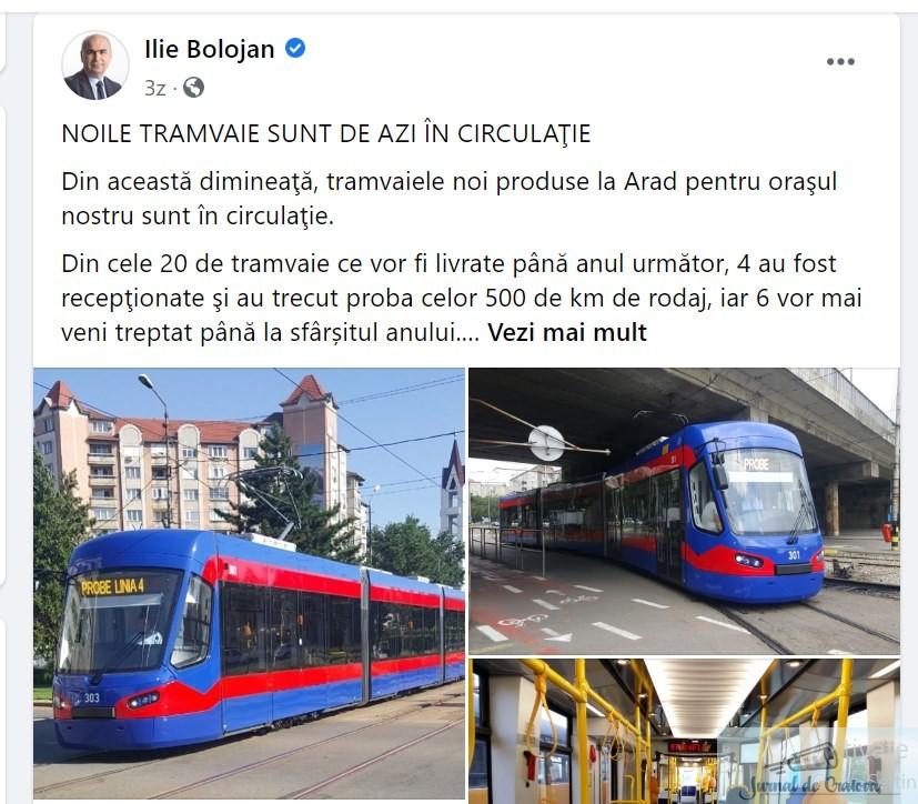 Nicolae Giugea : După ce a cumpărat autobuze din Turcia, municipalitatea craioveană va cumpăra tramvaie din Ucraina! 1