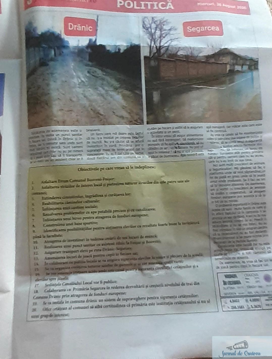 Ziarul PSD se distribuie gratuit ... Am intrat in posesia unui ziar distribuit in comuna Dranic 4