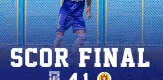 Fotbal : Universitatea Craiova castiga restanta cu Ripensia Timisoara ..
