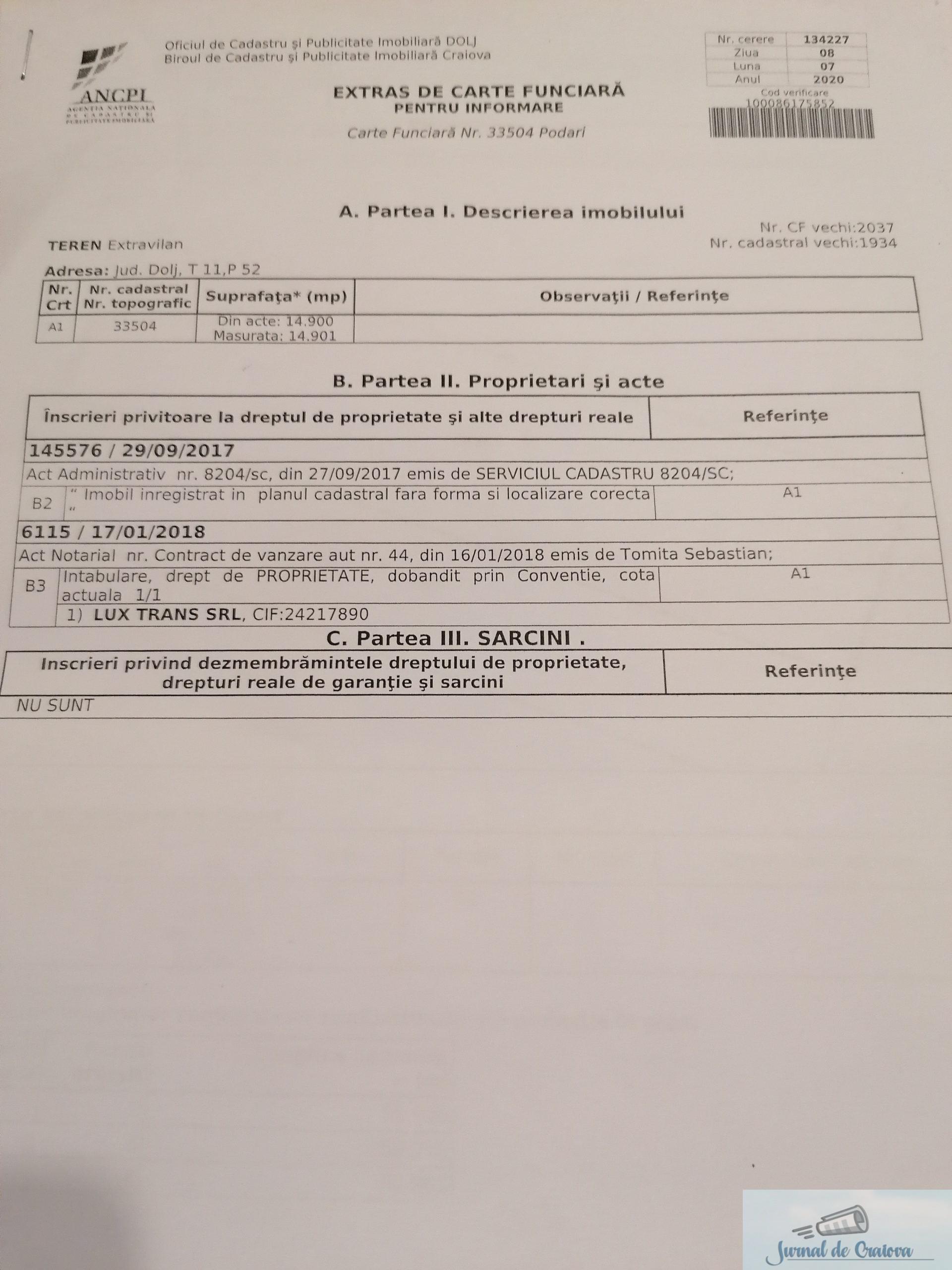 #BarondeDolj : Cum a reusit familia Gheorghita sa puna mana pe cele 24 de hectare cedate de MAPN in Podari .. 10