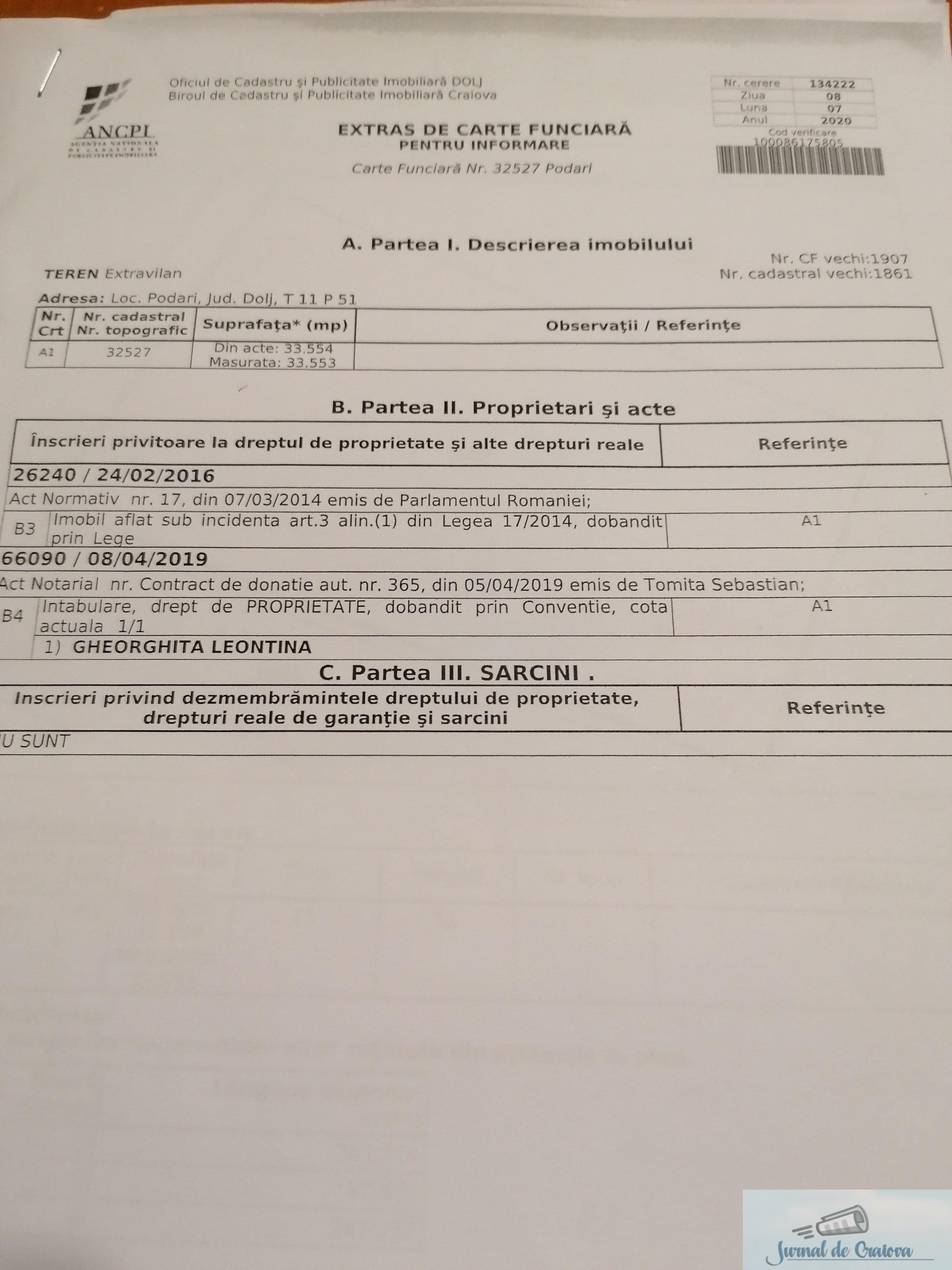 #BarondeDolj : Cum a reusit familia Gheorghita sa puna mana pe cele 24 de hectare cedate de MAPN in Podari .. 12