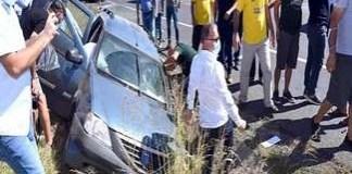 Ministrul Agriculturii ,Adrian Oros, a intervenit la un accident rutier!