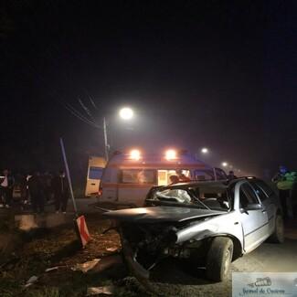Doi morţi într-un accident rutier, în apropiere de Craiova, la Melinești..