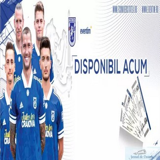 Fotbal : Universitatea Craiova a pus in vanzare bilete virtuale la partida cu Gloria Buzău