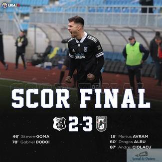 Universitatea Craiova castiga ultimul meci al anului la Targu Jiu ..