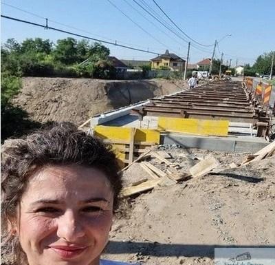 Adela Gherghe : Lucrarile de la Podul din Malu Mare se vor finaliza pana in luna noiembrie