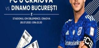 Universitatea Craiova pune în vânzare biletele pentru partida cu FC Dinamo București