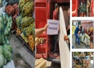 Fermierii din Olt au încărcat mai multe mașini cu tone de legume și alimente și au plecat spre Alba, pentru a-i ajuta pe sinistrați.