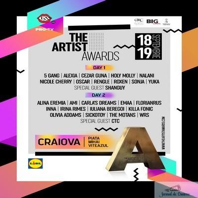 INNA, Carla's Dreams, Irina Rimes sau The Motans urca pe scena The Artist Awards 2021 - 18 și 19 septembrie in Piața Mihai Viteazu
