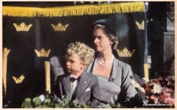 Principele Carl Gustaf & mama sa Principesa Sibylla de Saxa-Coburg-Gotha. Colectia Diana Mandache